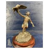 CA PARDELL BRONZE KEEPER OF EAGLES ON STAND