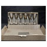 LOT OF 6 STERLING SILVER CORDIALS IN ORIGINAL BOX