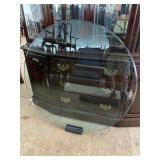 LIKE NEW 42 INCH ROUND BEVELED GLASS TOP