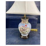 PORCELAIN ORIENTAL LAMP
