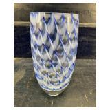 ART GLASS VASE, 10 inch