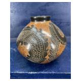 POTTERY VASE 5 tall 6 wide