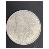 1897 P AU MORGAN SILVER DOLLAR