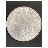 1879 P AU MORGAN SILVER DOLLAR