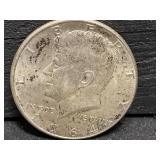 1964 AU SILVER KENNEDY HALF DOLLAR