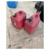TWO 5 GAL GAS CANS