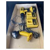 DEWALT LIGHT AND DRILL WITH CHARGERS