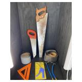 SAW AND SAND PAPER LOT