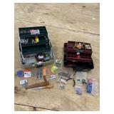 TACKLE BOX AND CONTENTS LOT