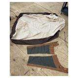 MOTORCYCLE COVER AND CHAPS LOT