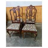 SET OF 4 ROSEWOOD FRENCH VICTORIAN CHAIRS