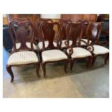 SET OF 8 HIGH BACK QUEEN ANNE CHAIRS