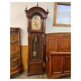 WALNUT TALL CASE GRANDFATHER CLOCK BY URGO