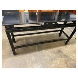 BLACK LAQUER ORIENTAL SOFA TABLE