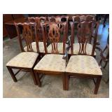 SET OF 6 THOMASVILLE CHERRY CHIPPENDALE CHAIRS