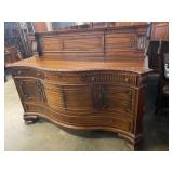 LARGE MAHOGANY CARVED SIDEBOARD WITH SPLASH,