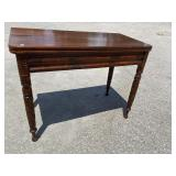 19 CENT ACANTHUS CARVED FLIP TOP GAME TABLE