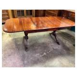 MAHOGANY DROP LEAF TABLE WITH 2 LEAVES