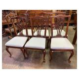 SET OF 6 DREXEL HERITAGE QUEEN ANNE CHAIRS
