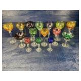 15 CUT TO CLEAR GLASS STEMS LOT
