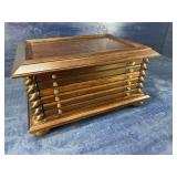 MAHOGANY 6 DRAWER COIN COLLECTORS CHEST