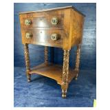 19 cent ACANTHUS CARVED 2 drawer STAND