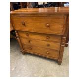 WALNUT 19 th CENT 4 drawer chest