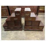 PR OF MAHOGANY STEP TABLES