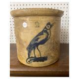 2 gallon blue marked bird crock
