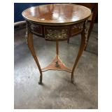 FRENCH BRONZE ADORNED ROUND CENTER TABLE