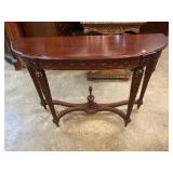 CARVED HALF ROUND CONSOLE TABLE