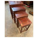SET OF 4 STACKING ROSEWOOD TABLES