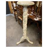 PAINT DECORATED GRAPE CARVED PEDESTAL