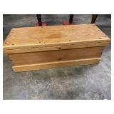 RARE SIZE CARPENTER BOX; pine, 33 x 12 , 11 tall