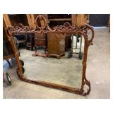 MAHOGANY CARVED MIRROR FOR SWAN DRESSER