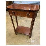 MAHOGANY 1 DRAWER STAND BY BOMBAY