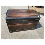 EARLY WOOD DOME TOP TRUNK