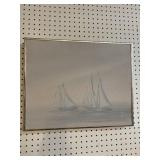 SHIP PAINTING ON CANVAS BY ANNI MOLLER