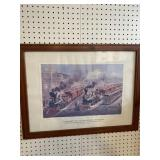 """CURRIER & IVES AMERICAN RAILROAD SCENE """""""