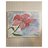 MODERN LILY OIL ON CANVAS BY G. Robinson