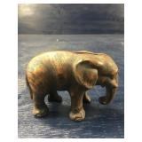 ANTIQUE CAST IRON HUBLEY ELEPHANT BANK: NICE