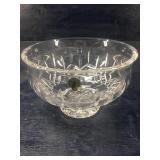 LARGE WATERFORD CRYSTAL LISMORE FOOTED BOWL: