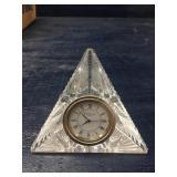VINTAGE WATERFORD CRYSTAL PYRAMID CLOCK: