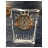 WATERFORD CRYSTAL CLOCK STARBURST BACK: BEAUTIFUL