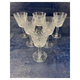 SET OF 6 WATERFORD 6 in stems