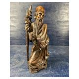 HAND CARVED ORIENTAL FIGURE  22 in tall