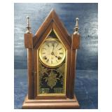 VINTAGE 8 DAY TIME AND STRIKE STEEPLE CLOCK