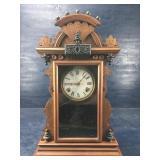 VINTAGE GINGERBREAD KITCHEN CLOCK WORKING