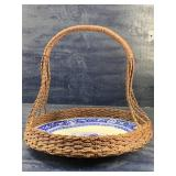 BLUE AND WHITE CHARGER INSERT BASKET