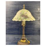 FLORAL REVERSE PAINTED LAMP